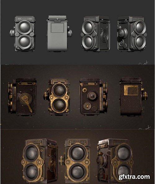 Rolleiflex Photo Camera – 3D Model