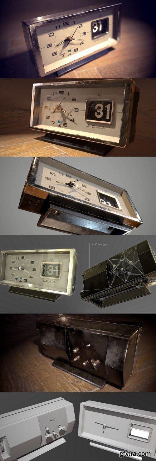 Vintage Alarm Clock – 3D Model