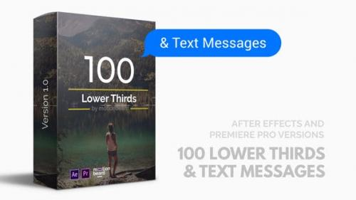 Videohive - 100 Lower Thirds and Messages for Premiere Pro & After Effects - 21852318