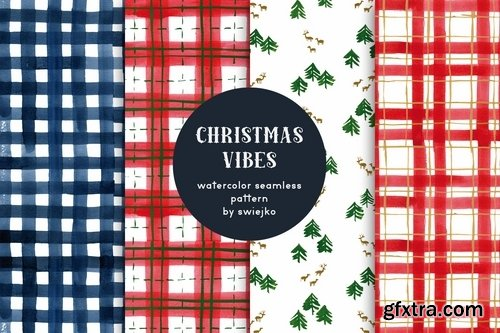 Christmas Vibes - seamless patterns