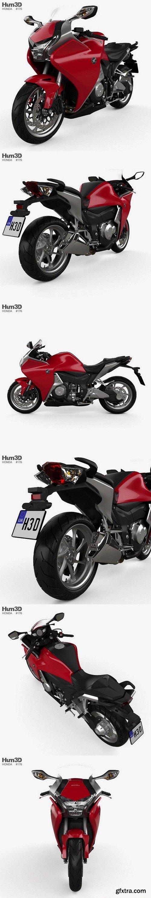 Honda VFR 1200 F 2015 3D Model