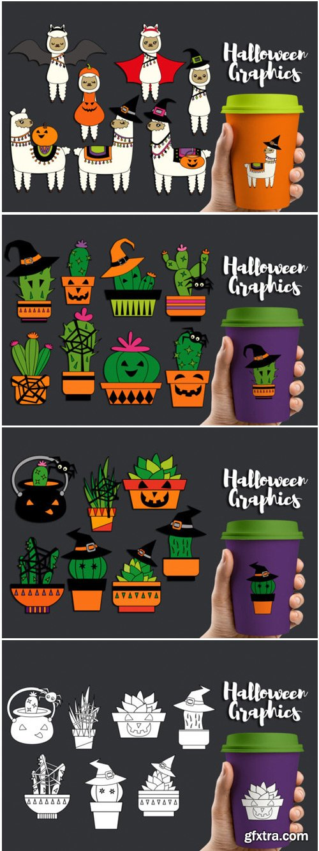 Halloween Llama Cactus Bundle 1698759