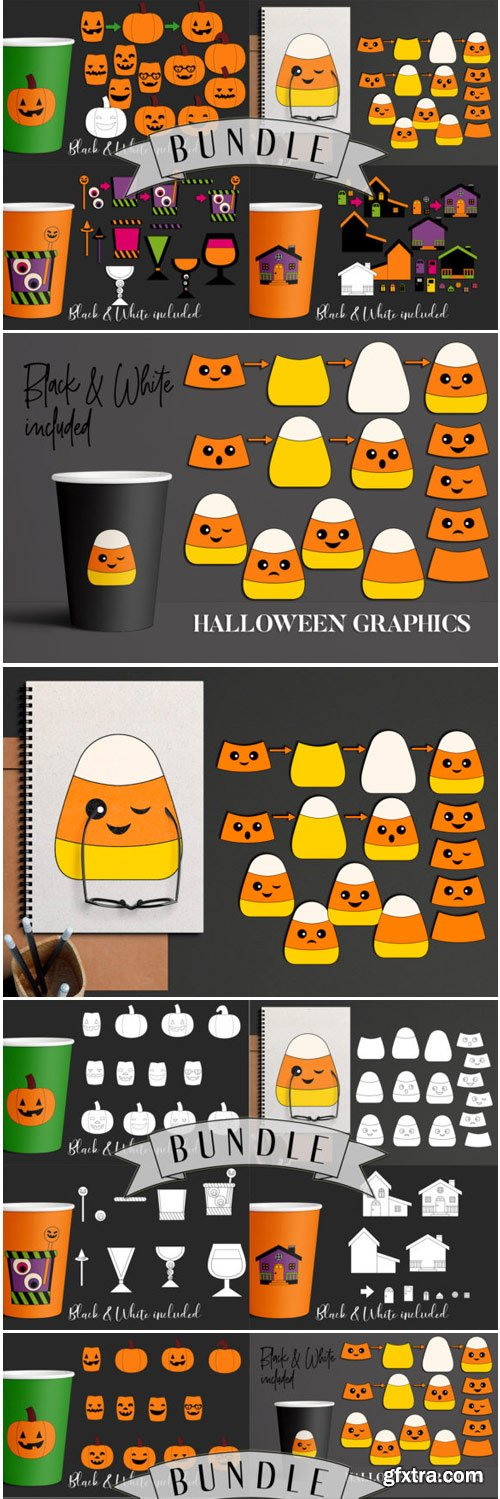 Halloween DIY Clip Art Bundle 1698701