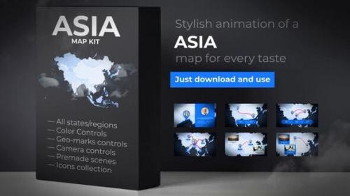 Udemy - Map of Asia with Countries - Asia Map Kit
