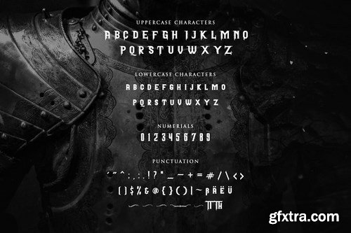 Pattrious - Elegant Gothic Display Typeface