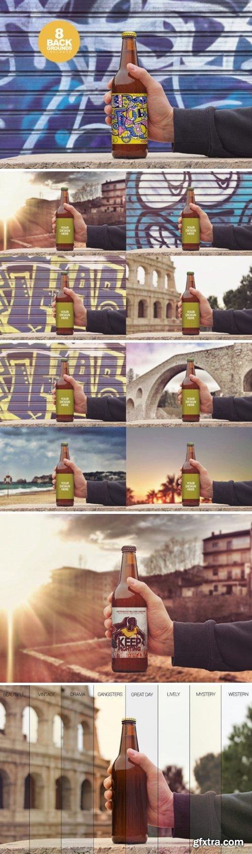 50cl/16.9oz Beer Bottle Mockup 1701500
