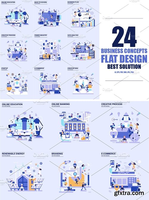 CM - Flat Design Business Concepts 2503335