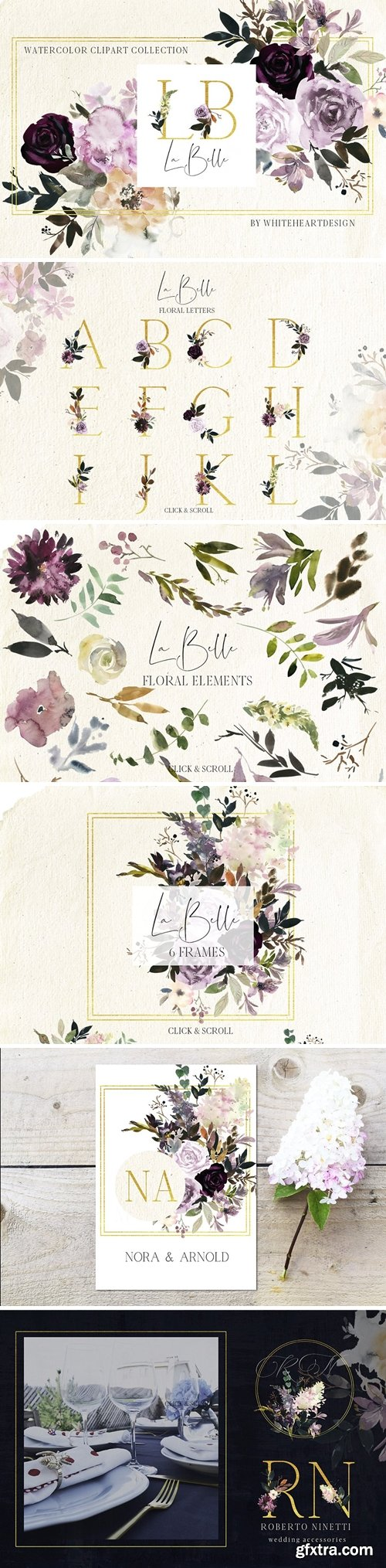 CM - La Belle Watercolor Floral Clipart 2876711