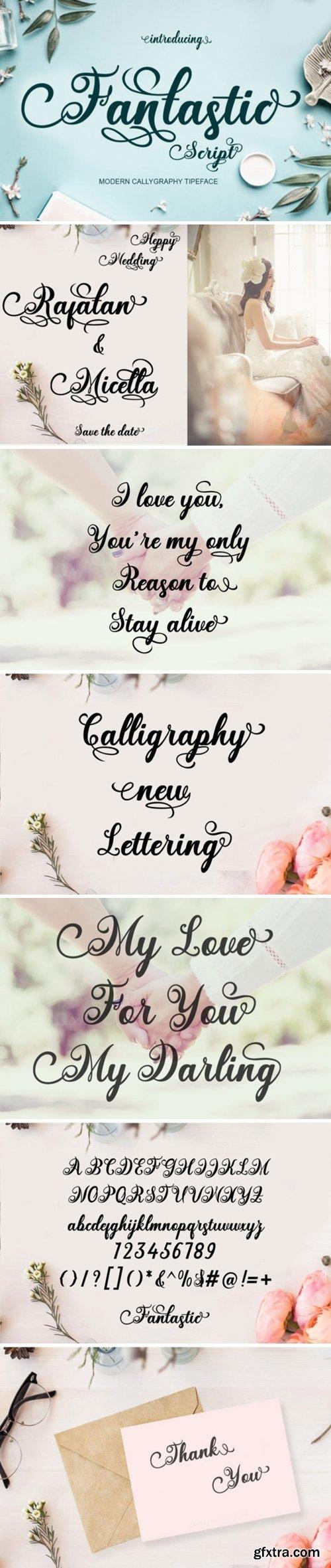 Fantastic Script Font