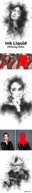 GraphicRiver - Ink Liquid Effect Photoshop Action 24233027