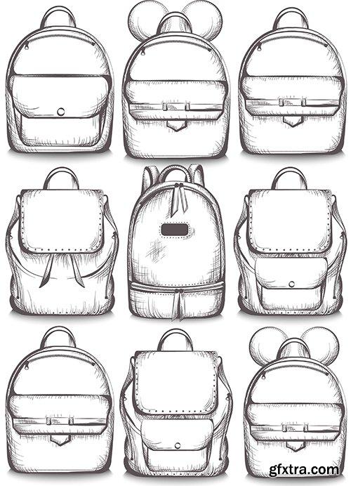 School Bags Vector Set