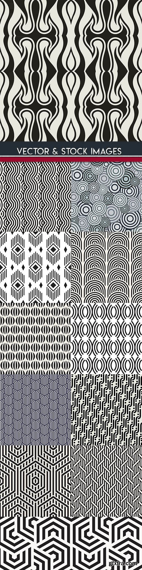 Abstract geometry seamless pattern design 35