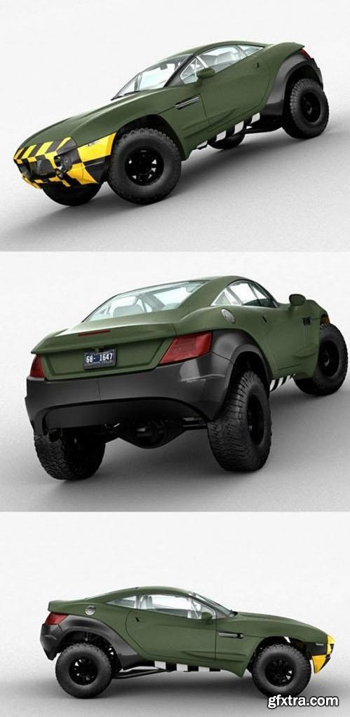 Local Motors Rally Fighter 3D Model