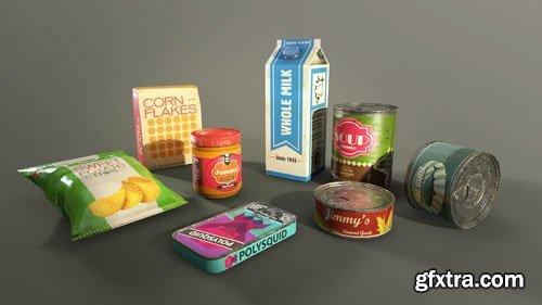 Survival Food Pack 3D Model