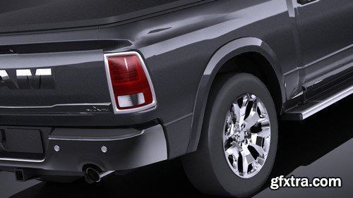 HQ LowPoly Dodge RAM 1500 Laramie Limited 2015 VRAY - 3D Model