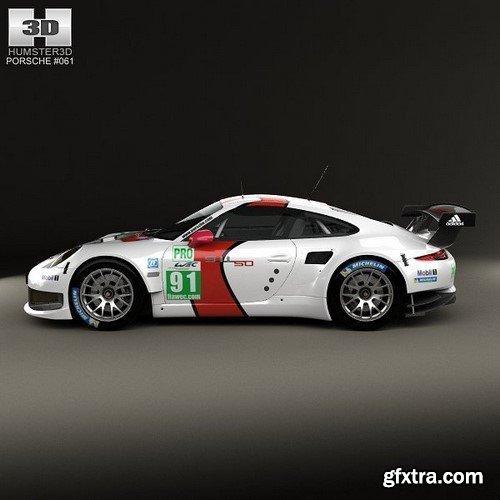 Porsche 911 Carrera (991) RSR 2013 3D Model