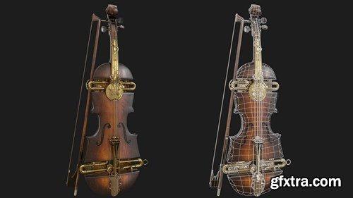 Steampunk Violin 3D Model