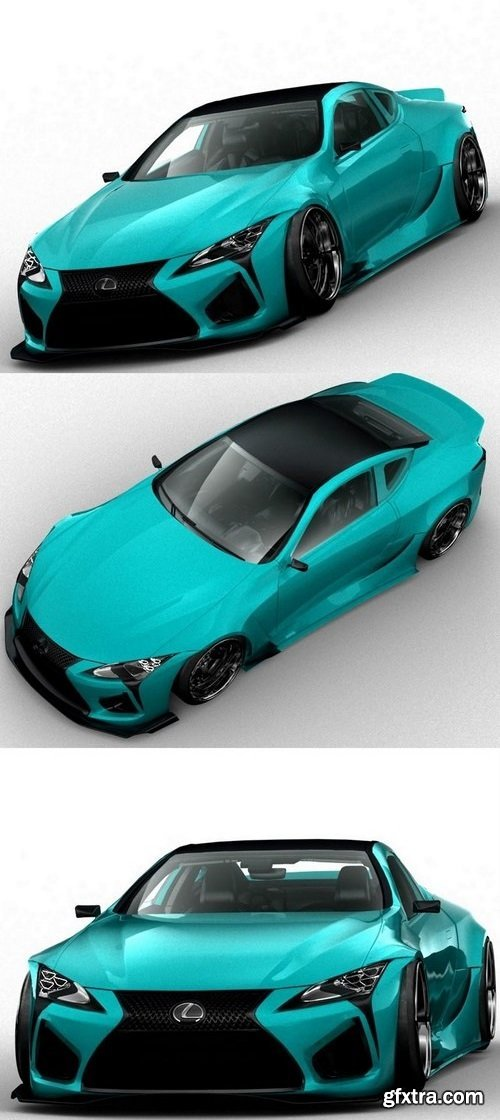 Lexus LC500 Street Legal Edition – 3D Model