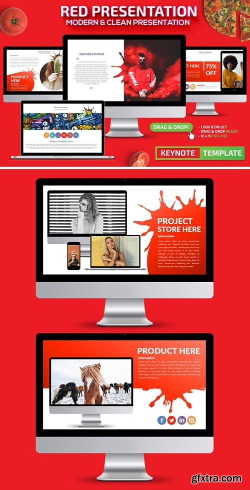 Red Powerpoint Presentation and Keynote Template