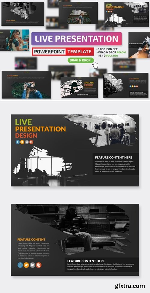 Live Powerpoint Presentation and Keynote Template