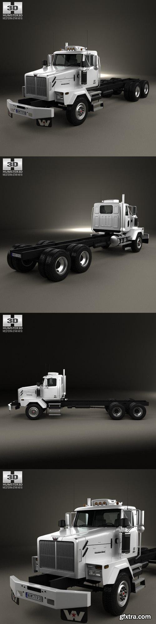 Western Star 4900 SB Day Cab Chassis Truck 2008 - 3D Model