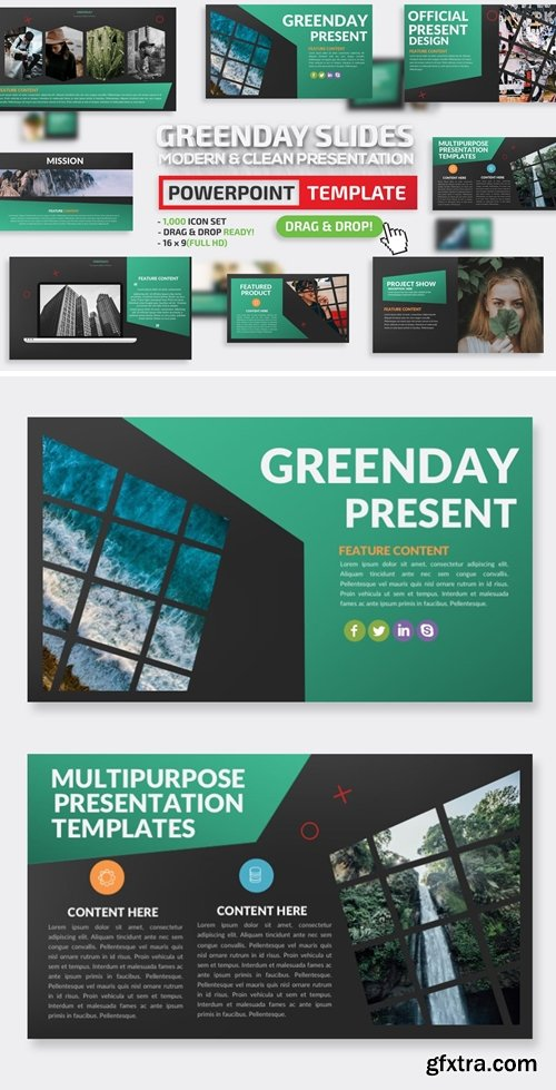 Greenday Powerpoint and Keynote Presentation