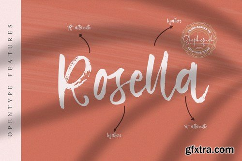 CM - Vetto Rosella - Handwritting Font 4027064