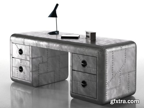 Cgtrader - Aviator Blackhawk Desk 3D model