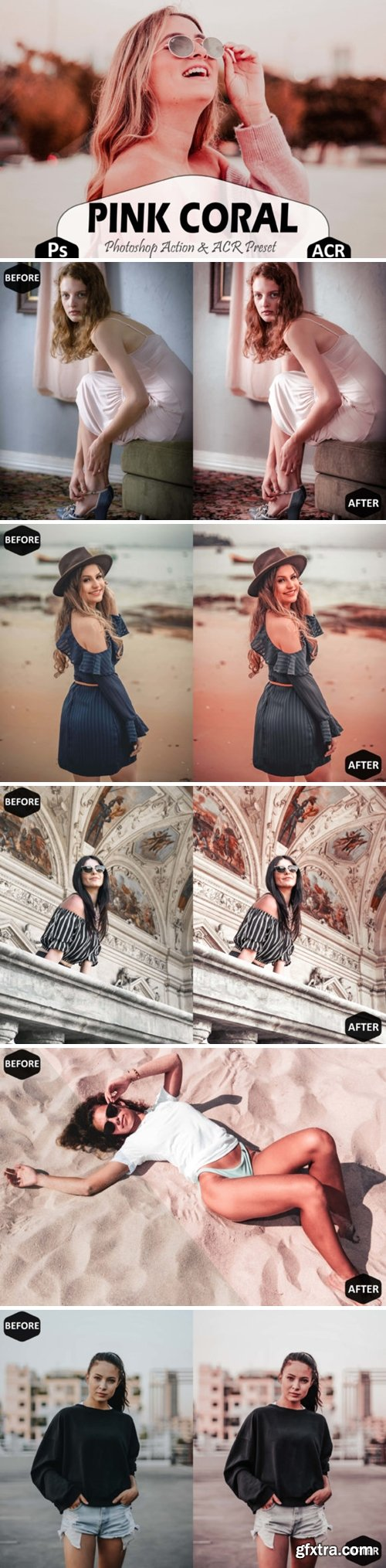Pink Coral Photoshop Actions ACR Preset 1705844