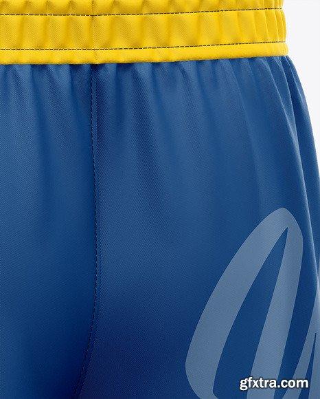 Men\'s Soccer Shorts Mockup - Back Half-Side 47463
