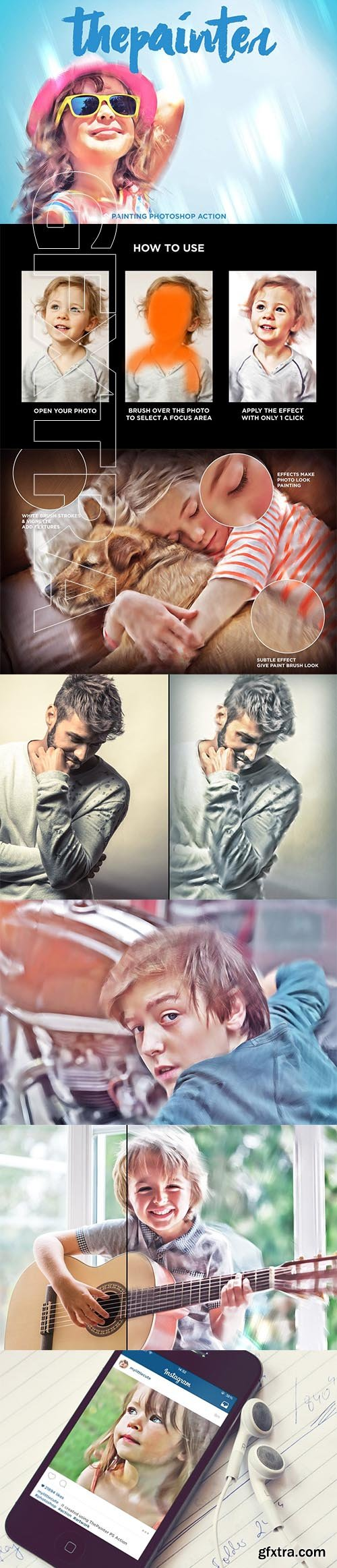 CreativeMarket - Oil Painting Photoshop Actions 3948266