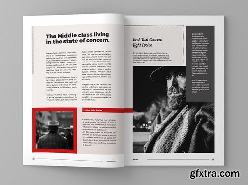 Stained - Magazine Template