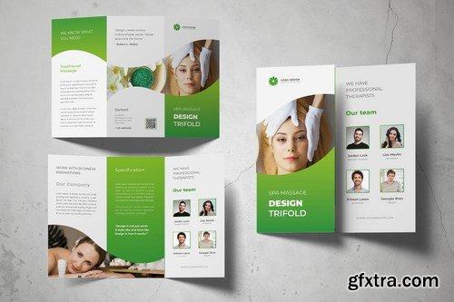 Spa Massage Trifold Brochure