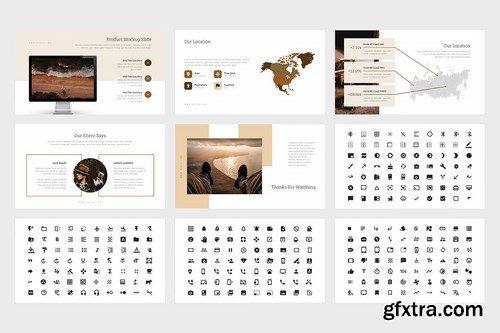 Huzia Brown Color Tone Pitch Deck Google Slides