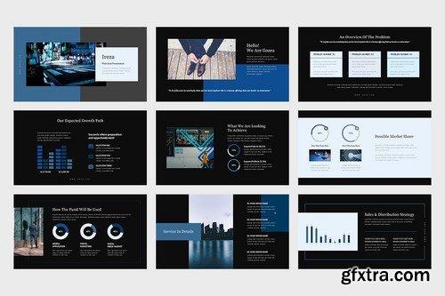 Ireza Blue Color Tone Pitch Deck Powerpoint