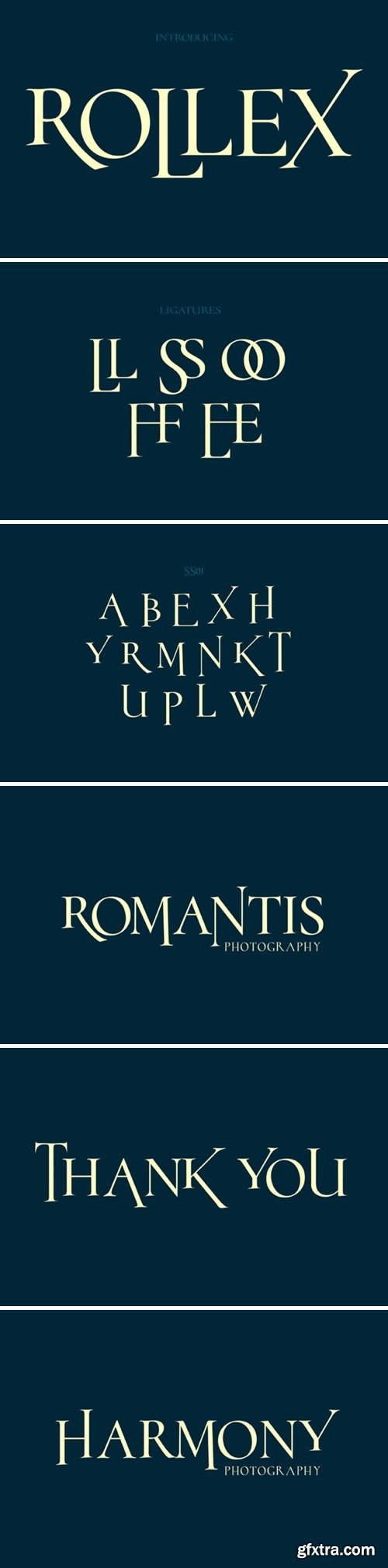 rollex font
