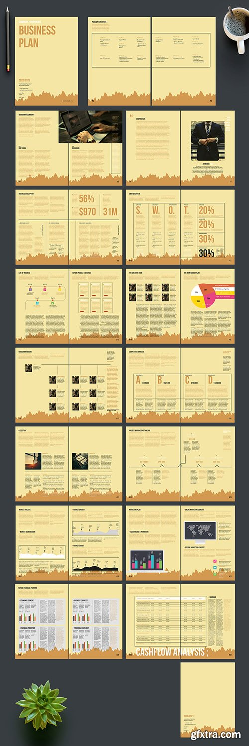 Business Plan Layout with Tan Accents 242172415