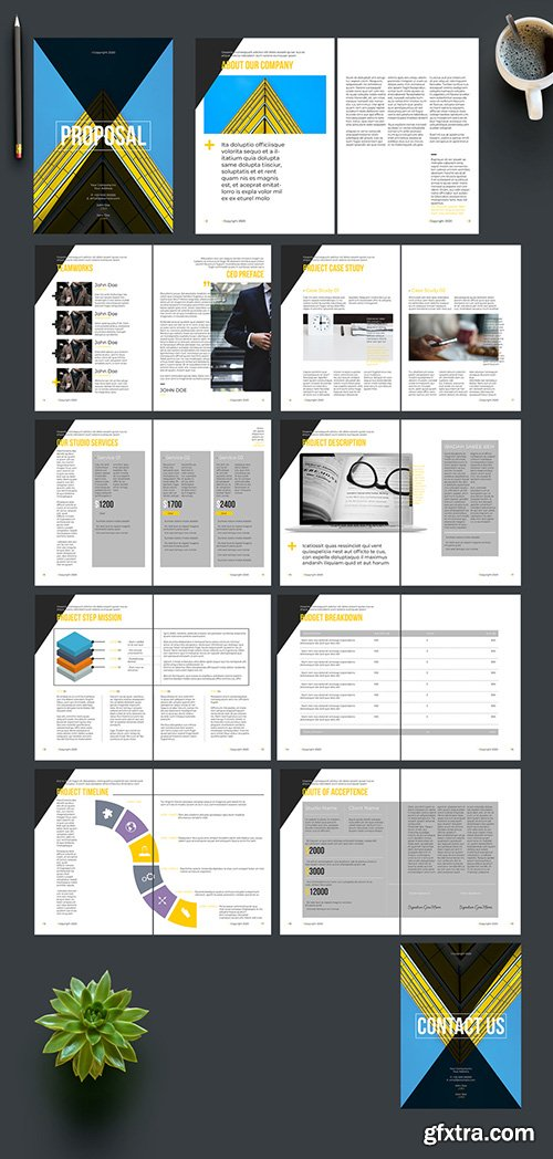 Proposal Layout with Yellow Accents 242172408