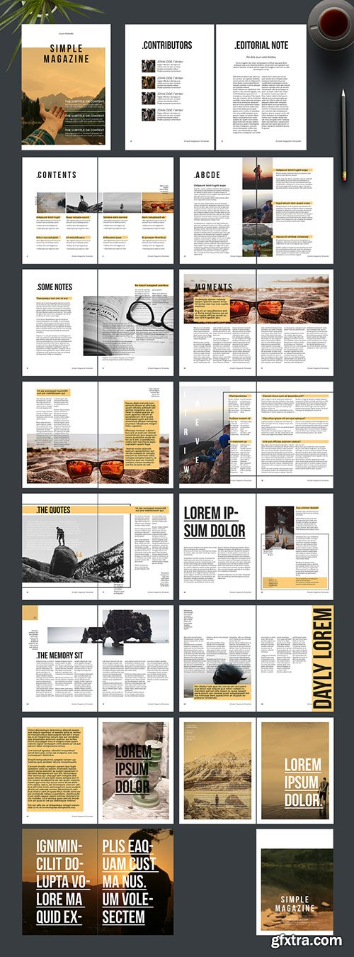 Magazine Layout with Tan Accents 242172436