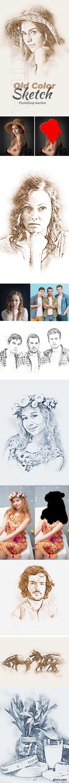GraphicRiver - Old Color Sketch Photoshop Action 24277092