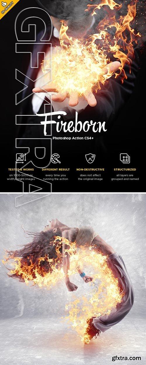 GraphicRiver - Fireborn CS4+ Photoshop Action 24273075
