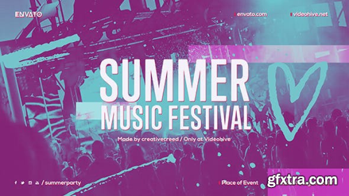 VideoHive Summer Music Festival Dance Event Promo EDM Party Invitation Night Club 20136953