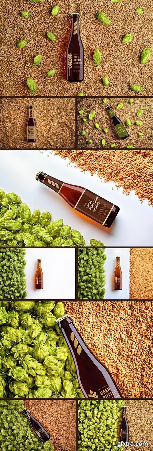 Beer Bottle Label Mockup Set 240774764