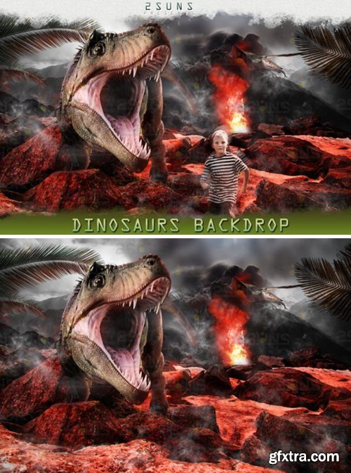 Dino Backdrop, Dunosaur Backdrop 1709050