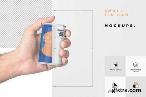5 Small Tin Can Mockups