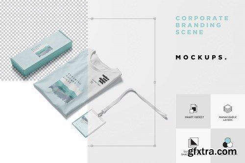 Corporate Branding Mockup Scenes
