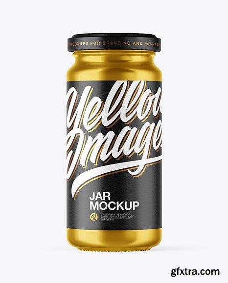 Metallized Jar Mockup 47427