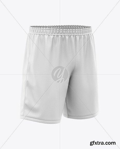 Men\'s Soccer Shorts Mockup - Front Half-Side 47443