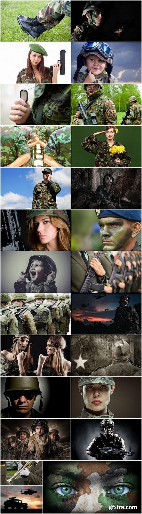 People in military uniform 25 HQ Jpeg