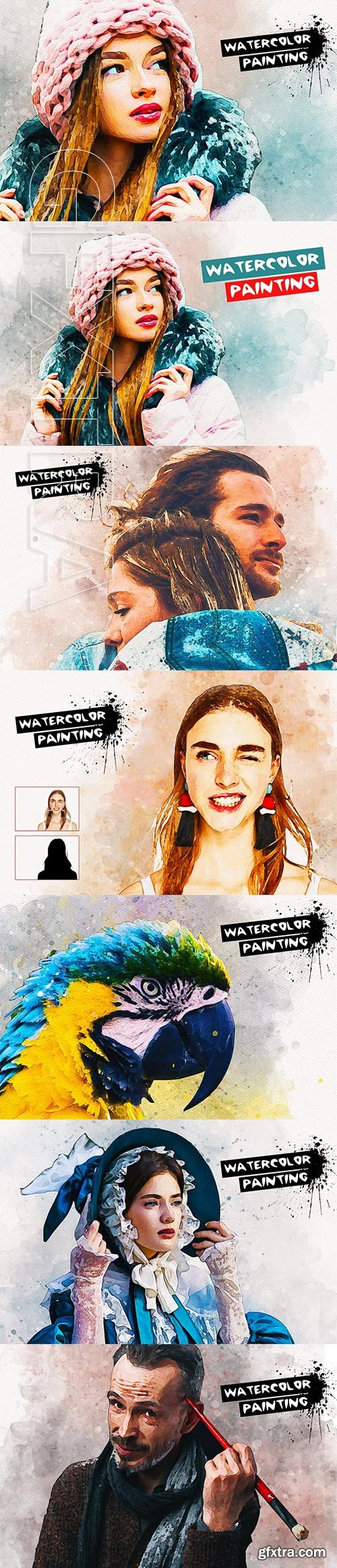 CreativeMarket - Watercolor Painting Effect 3704646